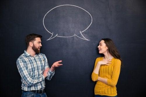 Par der har en dialog