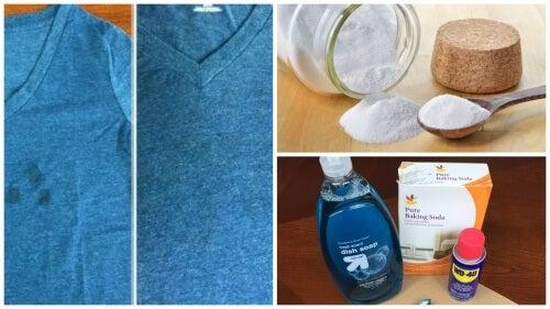 fedtpletter på tøj efter vask