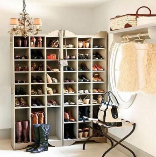 20 kreative ideer til at organisere dine sko
