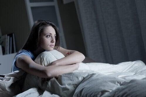 Kvinde der ikke kan sove