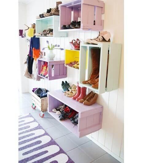 Kasser med sko