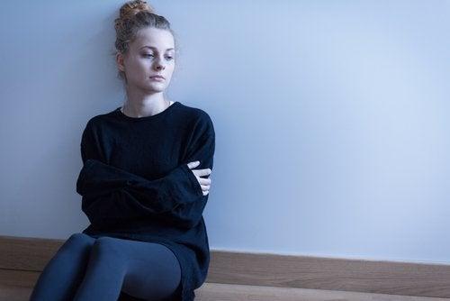 Kvinde der har depression