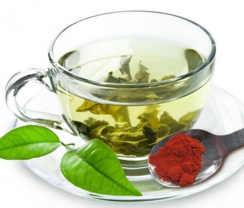 Grøn te er meget sundt