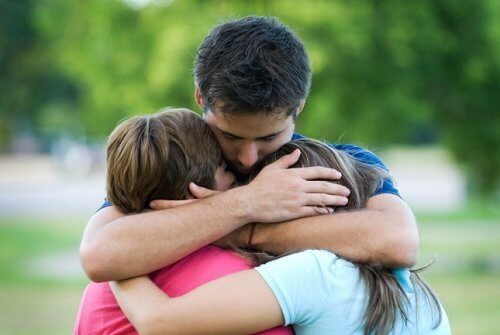3 personer der krammer