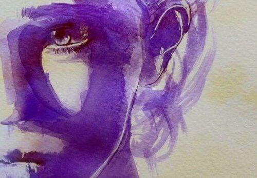 Malleri af en kvindes ansigt