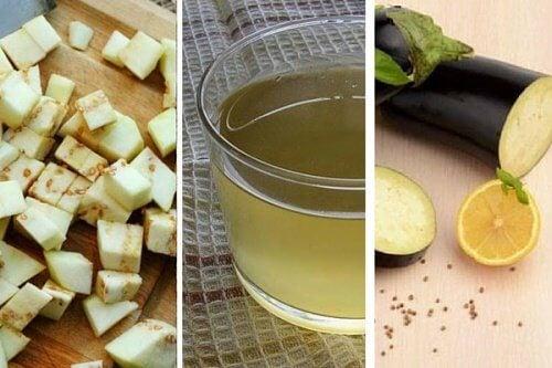 Aubergine og aubergine juice