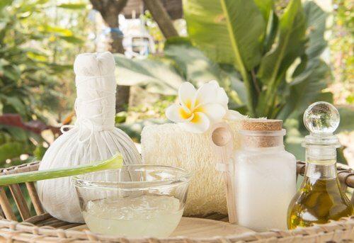 Aloe vera og kokosolie