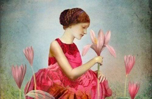 Kvinde med blomster