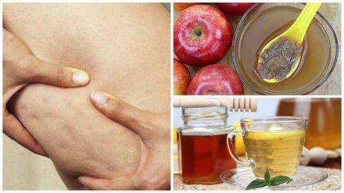 Fjern appelsinhud med honning og æblecidereddike