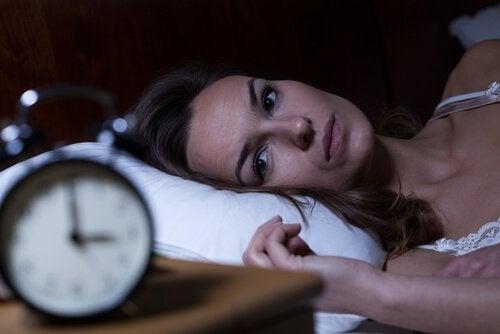 Kvinde der ikke kan sove - aendringer i soevnmoenstre