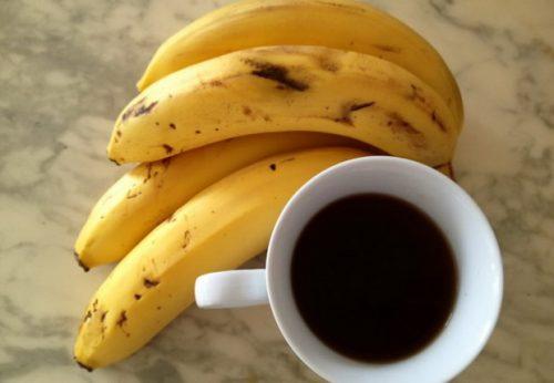 Bananer og kaffe