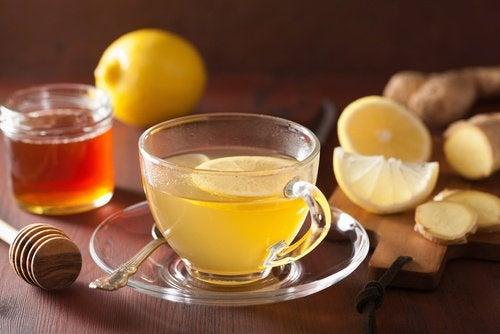 Ingefaer og citron te