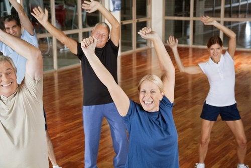 Personer der motionerer