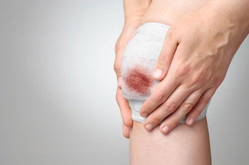 Sår har svært ved at hele, når du har et svagt immunforsvar.