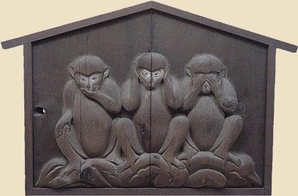 Historien om de tre vise aber kan sammenlignes med Sokrates prøve.