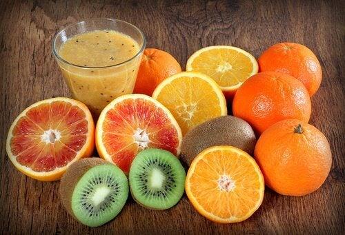 En variation af frugt.