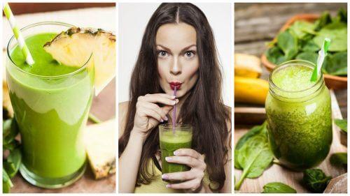 Prøv disse 5 grønne detox smoothies til vægttab