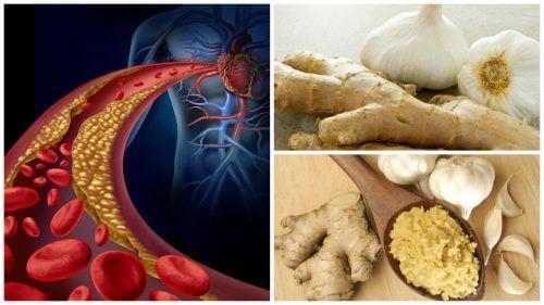 Sænk højt kolesterol og blodtryk med ingefær og hvidløg