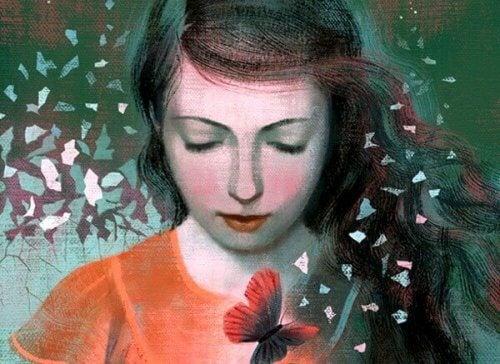 Billede af en ung kvinde