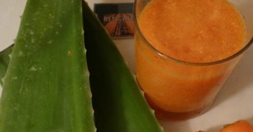Aloe vera og gulerodssaft