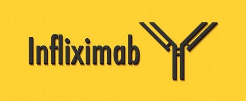 Infliximab på en gul baggrund