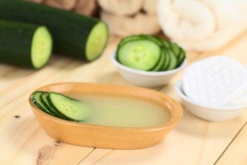 Stram huden op med agurk