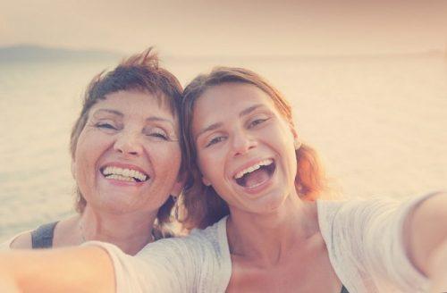 Mor og datter selfie