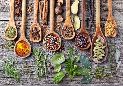 Forskellige krydderier
