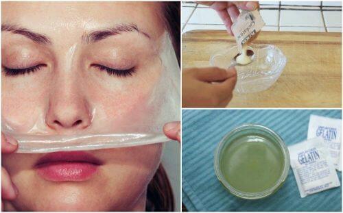 Sådan laver du en mælke- og gelatinemaske til at fjerne hudorme