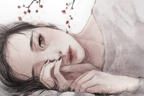 En pige der ligger ned