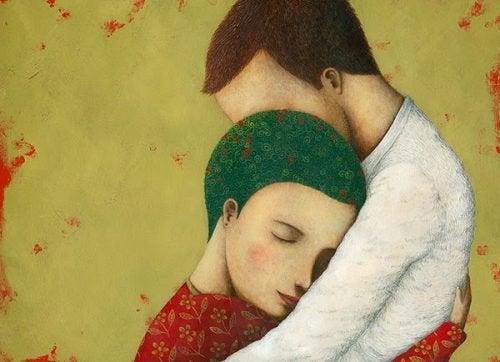 To mennesker der krammer - Mit livs kaerlighed