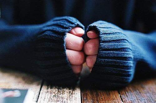 Føler sig kold