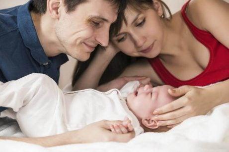 Forældre med baby