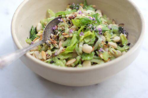 Sund salat i en skaal