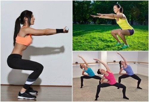 6 former for squats til at træne dine ben derhjemme
