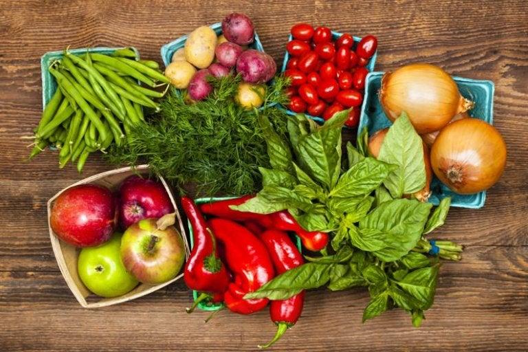 Mange forskellige grøntsager