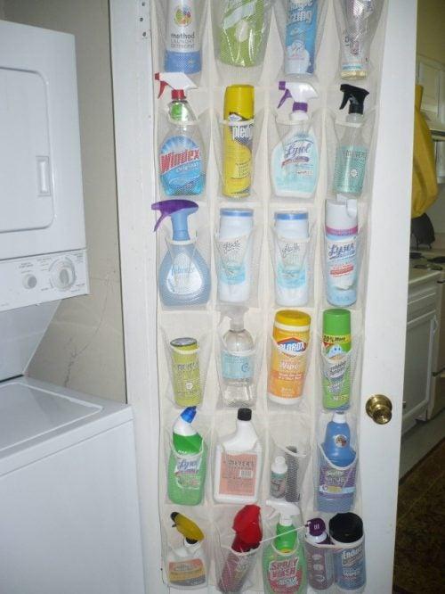 Organisere rengøringsmidler