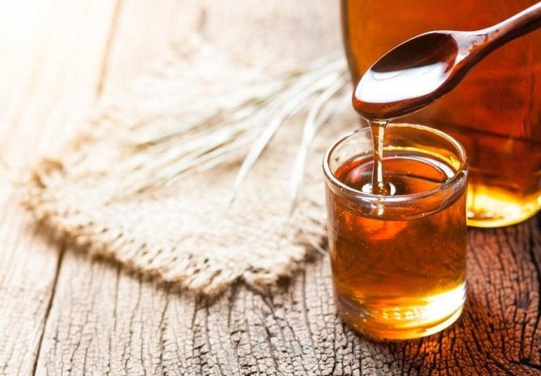 Glas med honning
