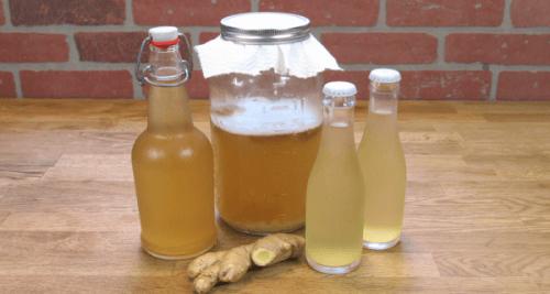Ingefærvand på flaske