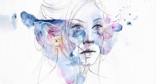 Kvinde oplever symptomer paa depression