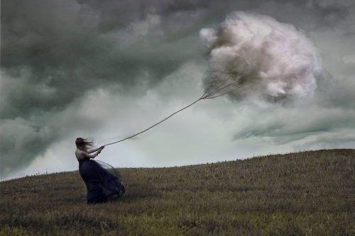 Sky symboliserer symptomer paa depression