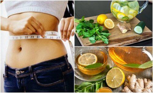 Bekæmp oppustethed og tab dig med ingefær og citron