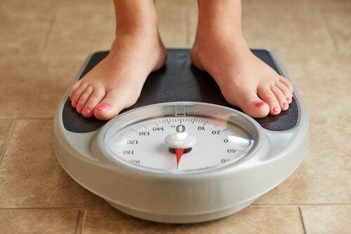Forandringer i vægt kan være tegn på problemer med skjoldbruskkirtlen