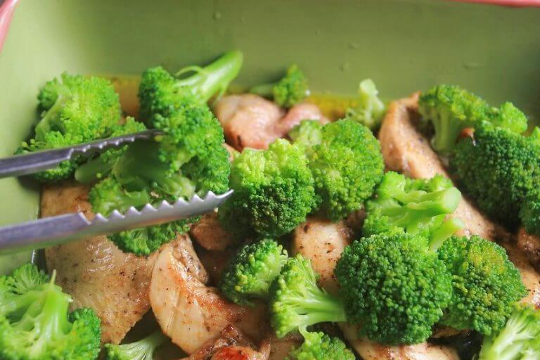 Broccoli med skinke