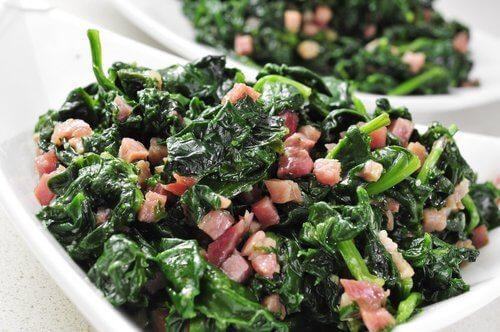 Spinat skinke - spinatopskrifter
