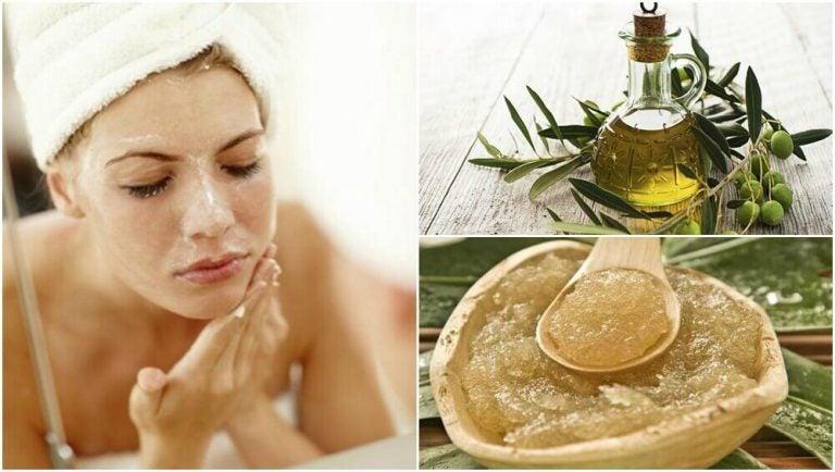 5 ansigtsmasker med olivenolie