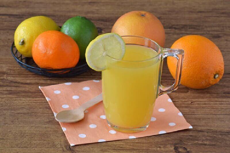 Citrusfrugter - fladere mave