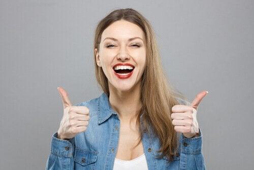 Kvinde der er optimistisk