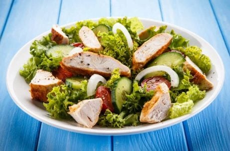 Kyllingesalat - slankekure der oeger dit stofskifte