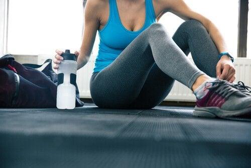 Vandflaske med til træning